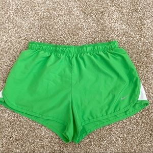 Nike Running Shorts Lime Green Small